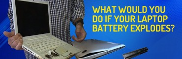 What would you do if your laptop battery explodes?