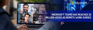 Microsoft Teams has reached 32 million users as remote work surges